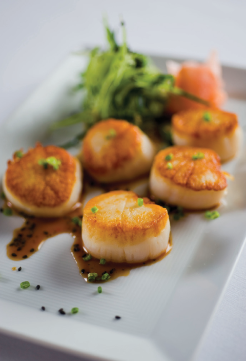 Seared Sea Scallops with Sesame Ponzu