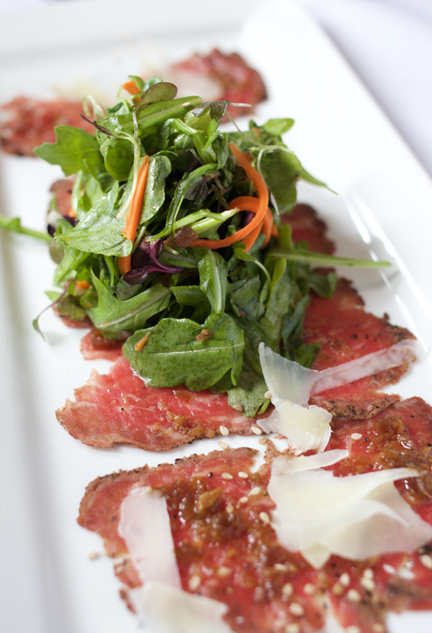 Beef Carpaccio with Tamari & Ginger Vinaigrette