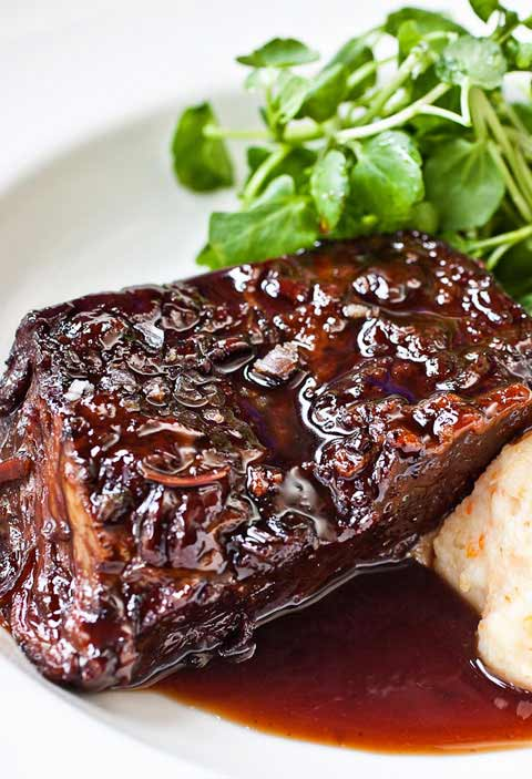 Braised Short Ribs with Roasted Root Vegetable Mash Recipe