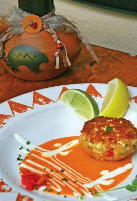 Southwestern Crab Cakes with Roasted Red Pepper Sauce