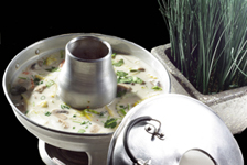 TOM KHA GAI (Thai Galunga-based Coconut Soup with Chicken)