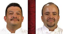 Gabriel Diaz <br>Catering Chef<br>Christian Venegas<br> Executive Chef